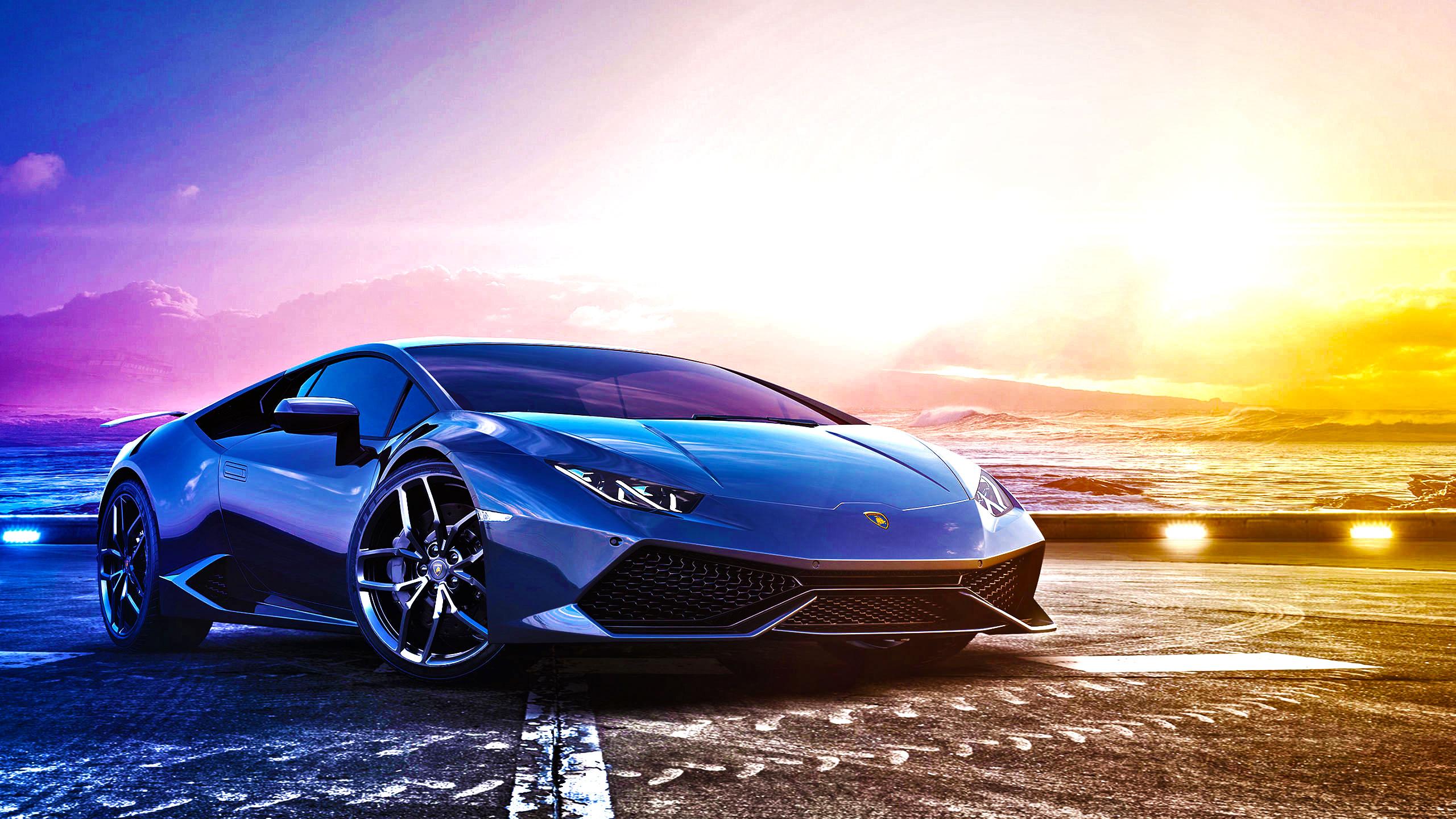 Lamborghini голубая отражение  № 2522839 без смс