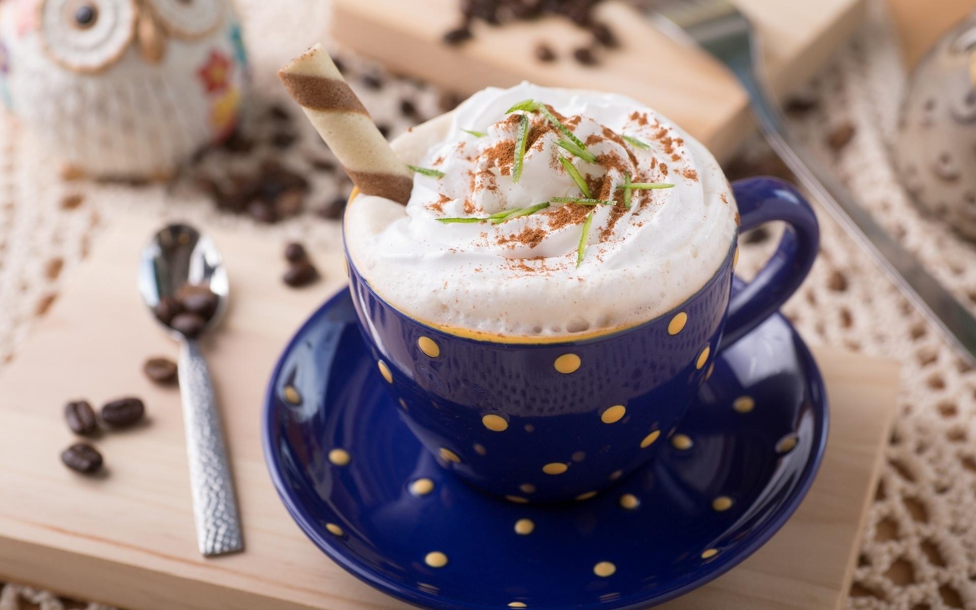 Фон рабочего, красивая открытка чашечка кофе