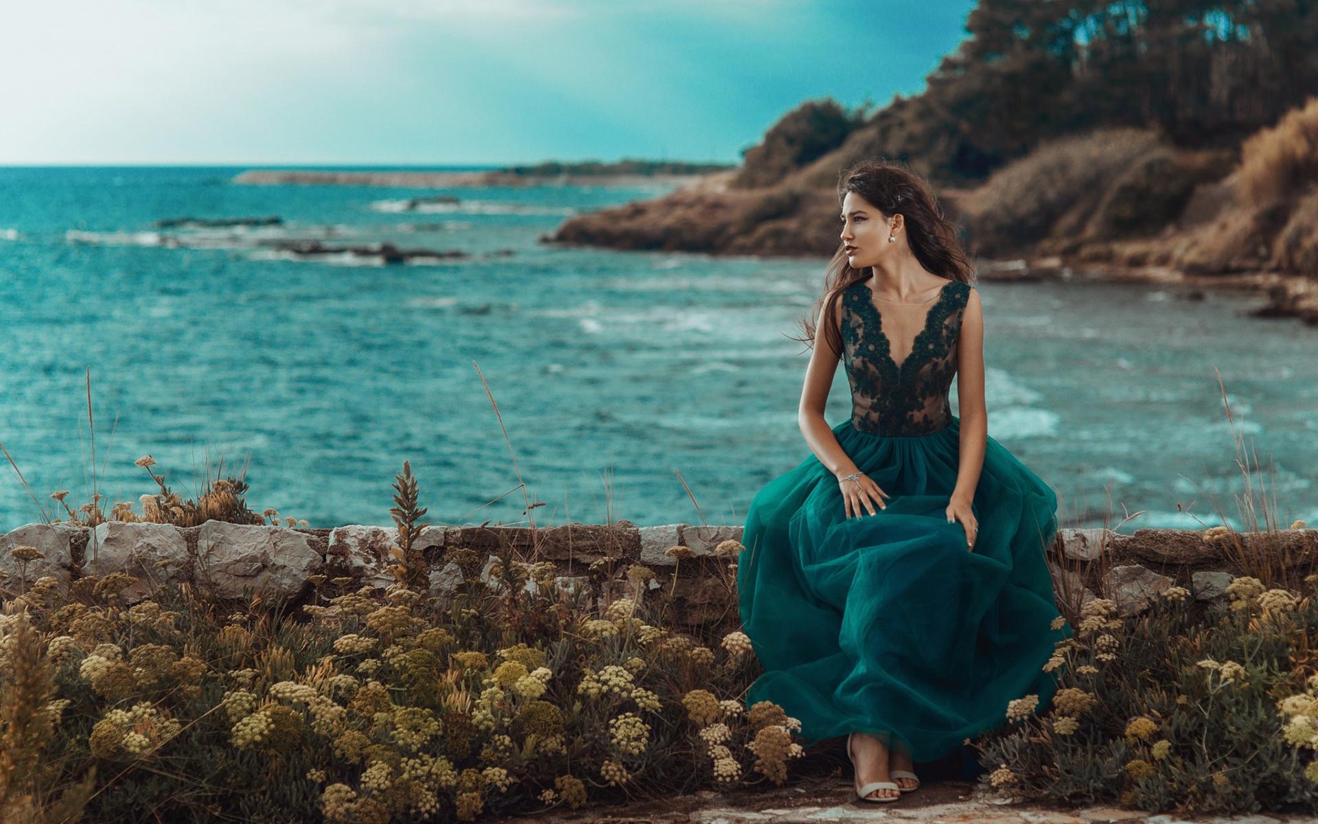 опытная тема фотосессии возле моря возбуждение