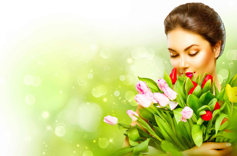 Танюшке день, открытка девушка цветы