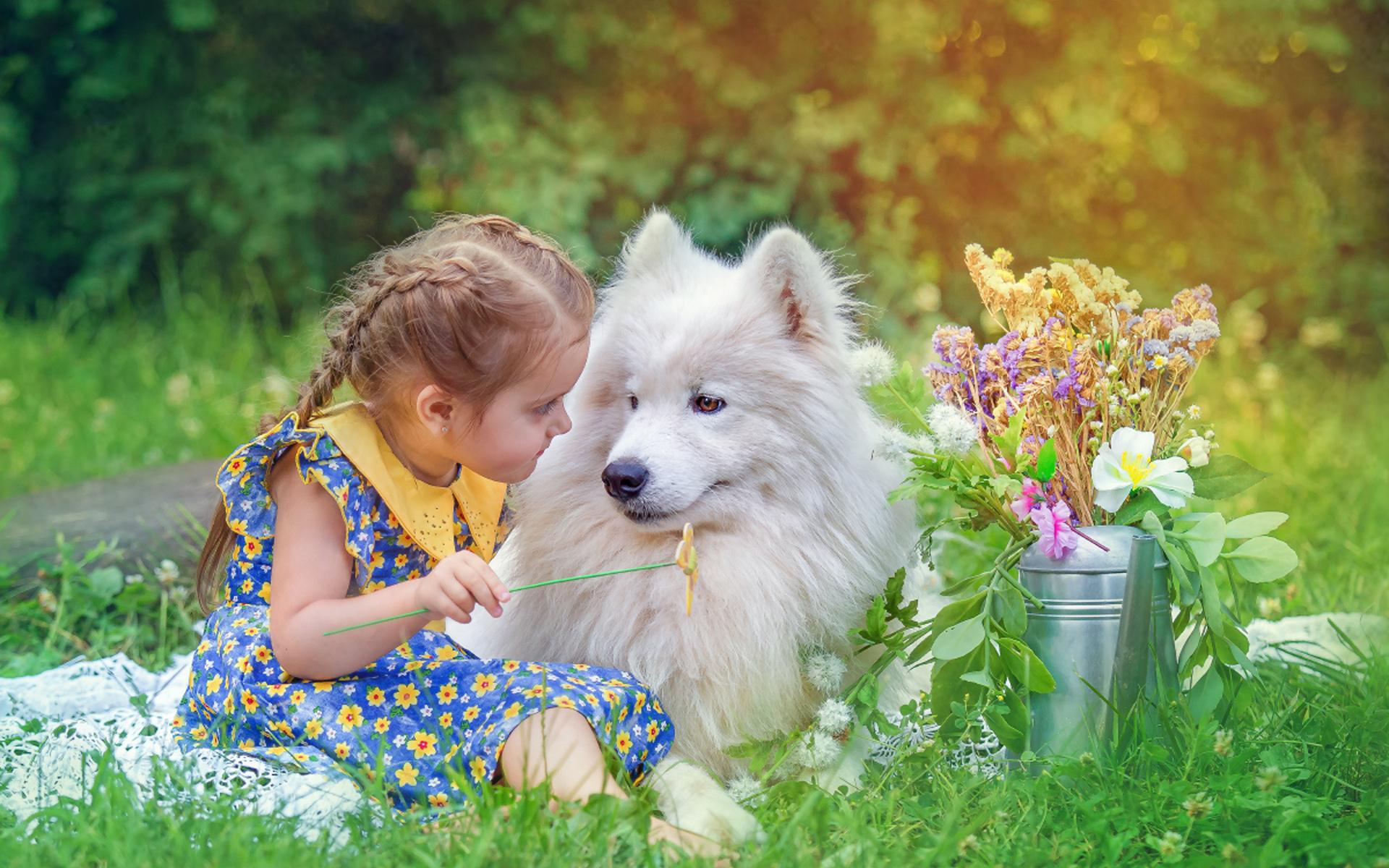 Картинки дети на природе с животными