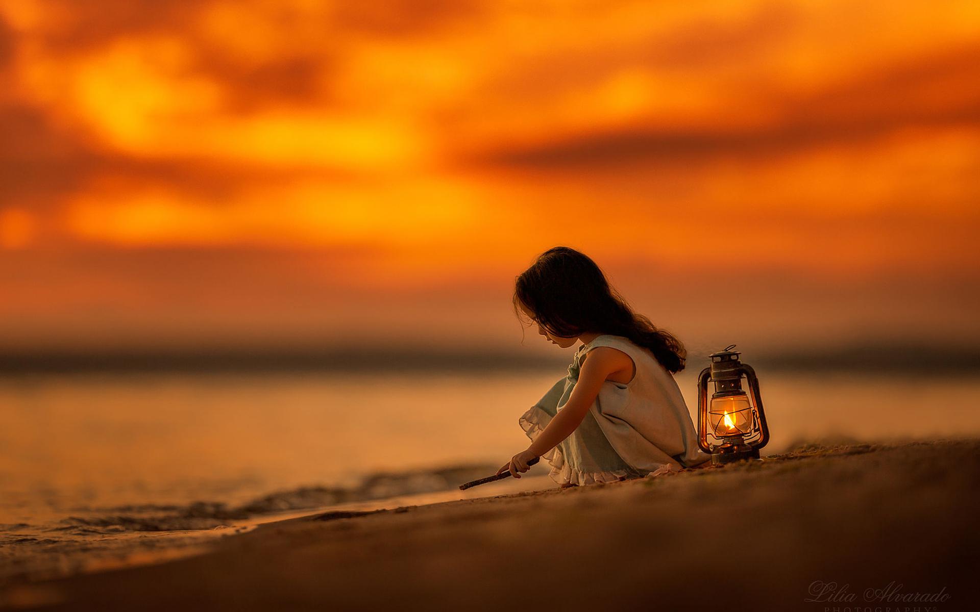 Обои настроение, Девочка, лампа. Настроения foto 17
