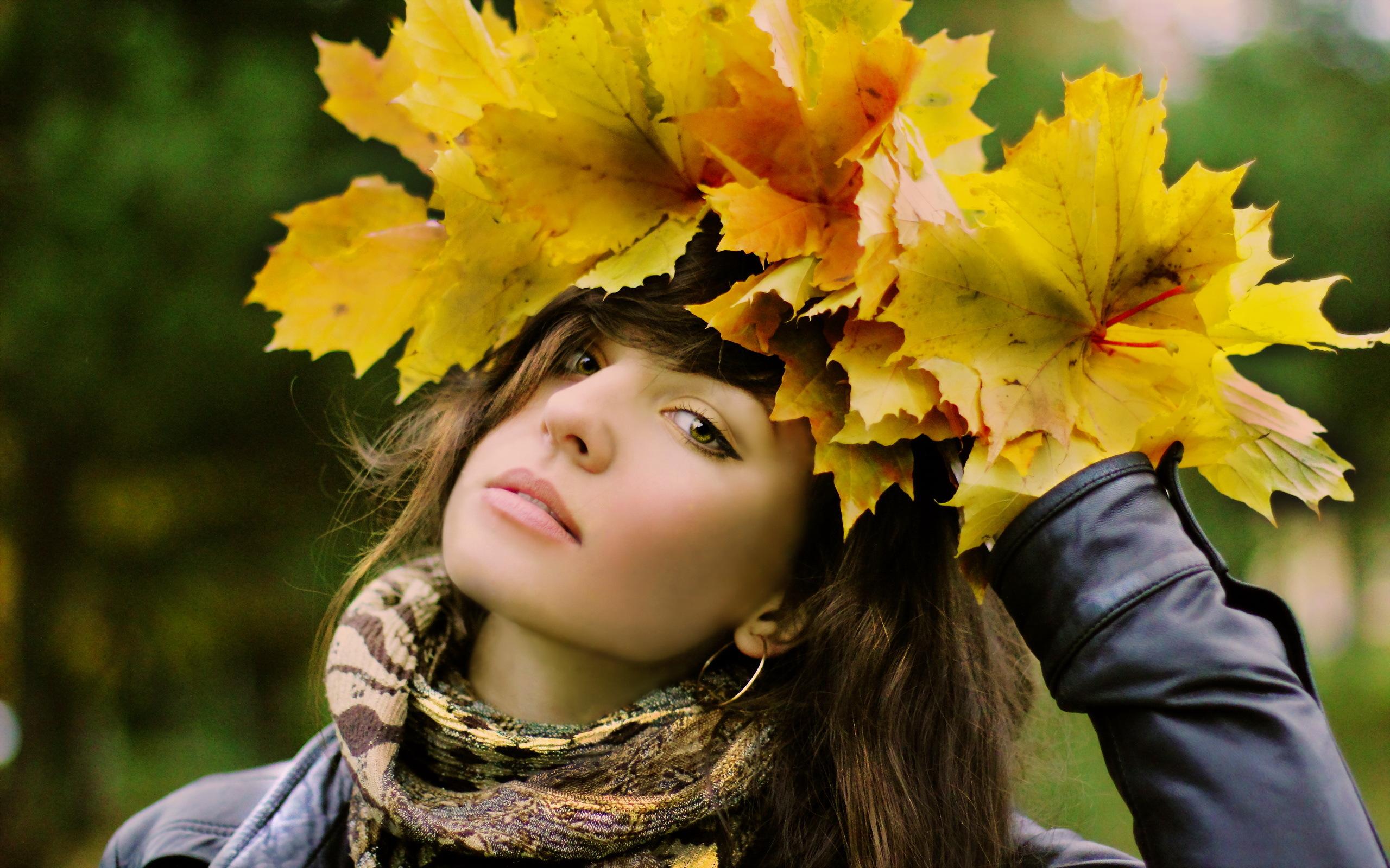 Картинки девушка и осень красивые, гифы видео картинки