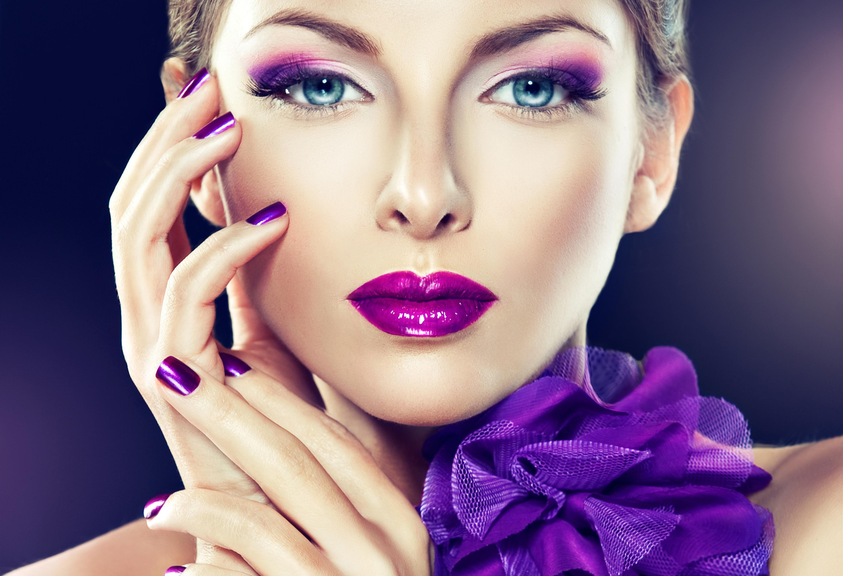 картинка макияжа и маникюра практической части