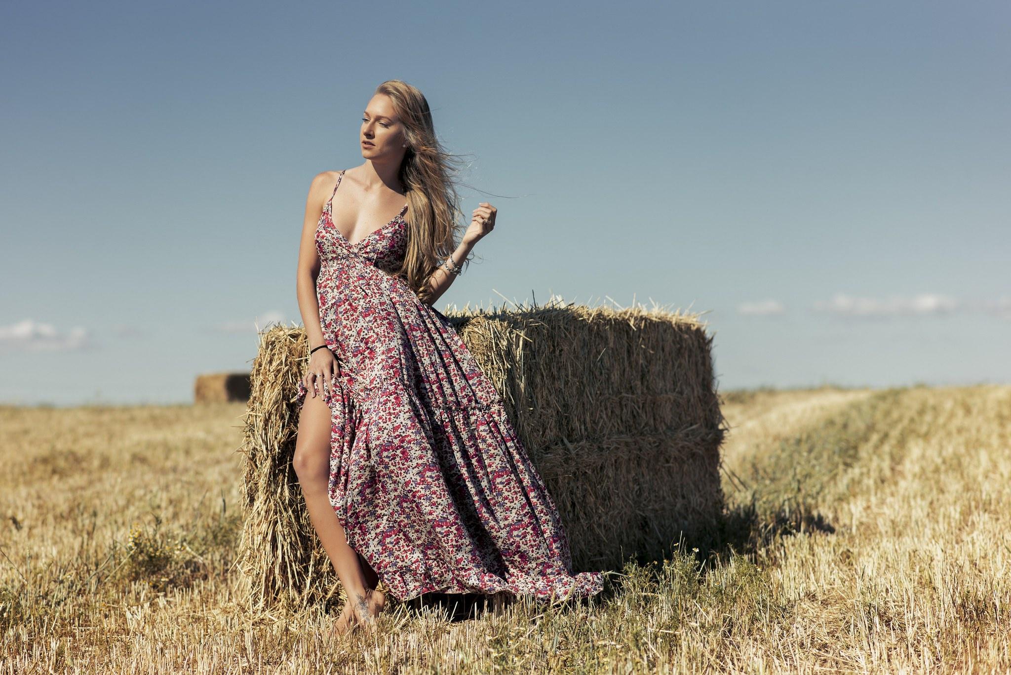 Фотосессия в легкомысленном платье
