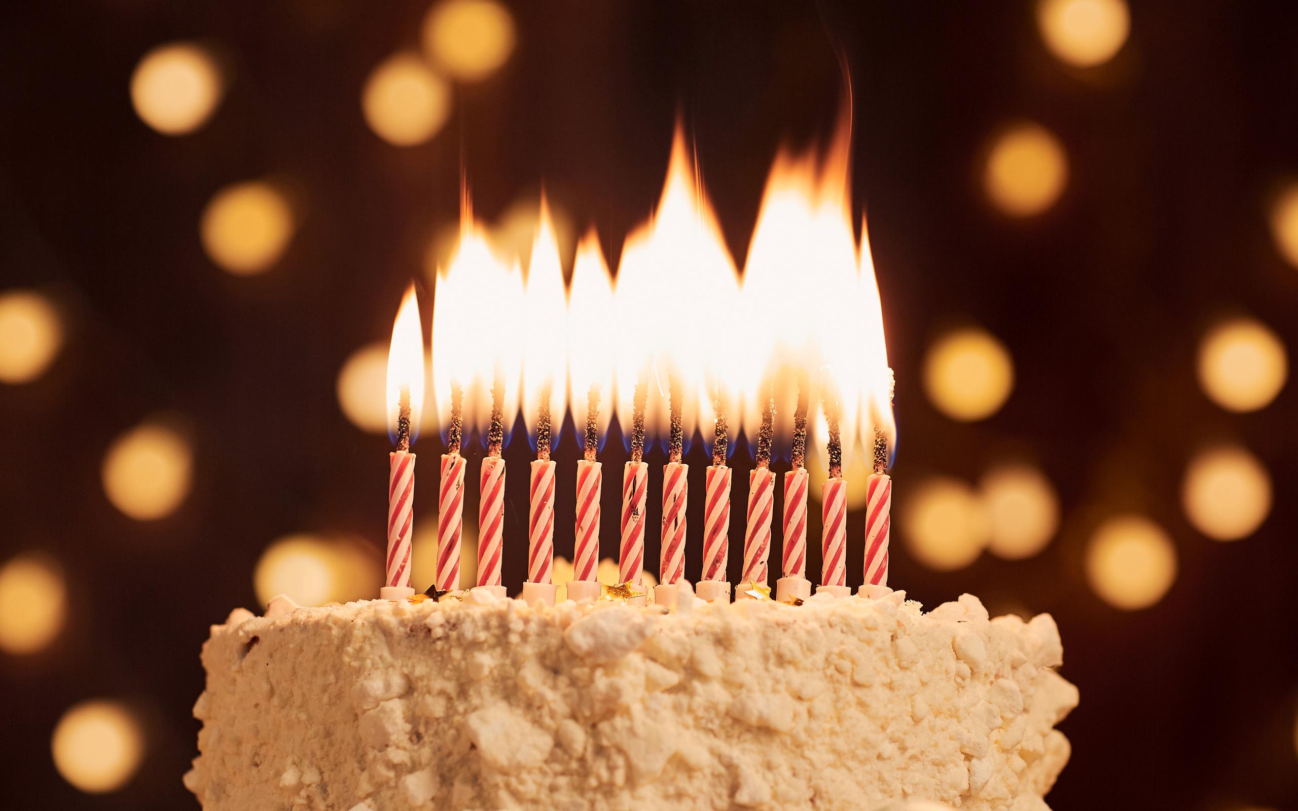 Поздравление днем, открытка торт свечи