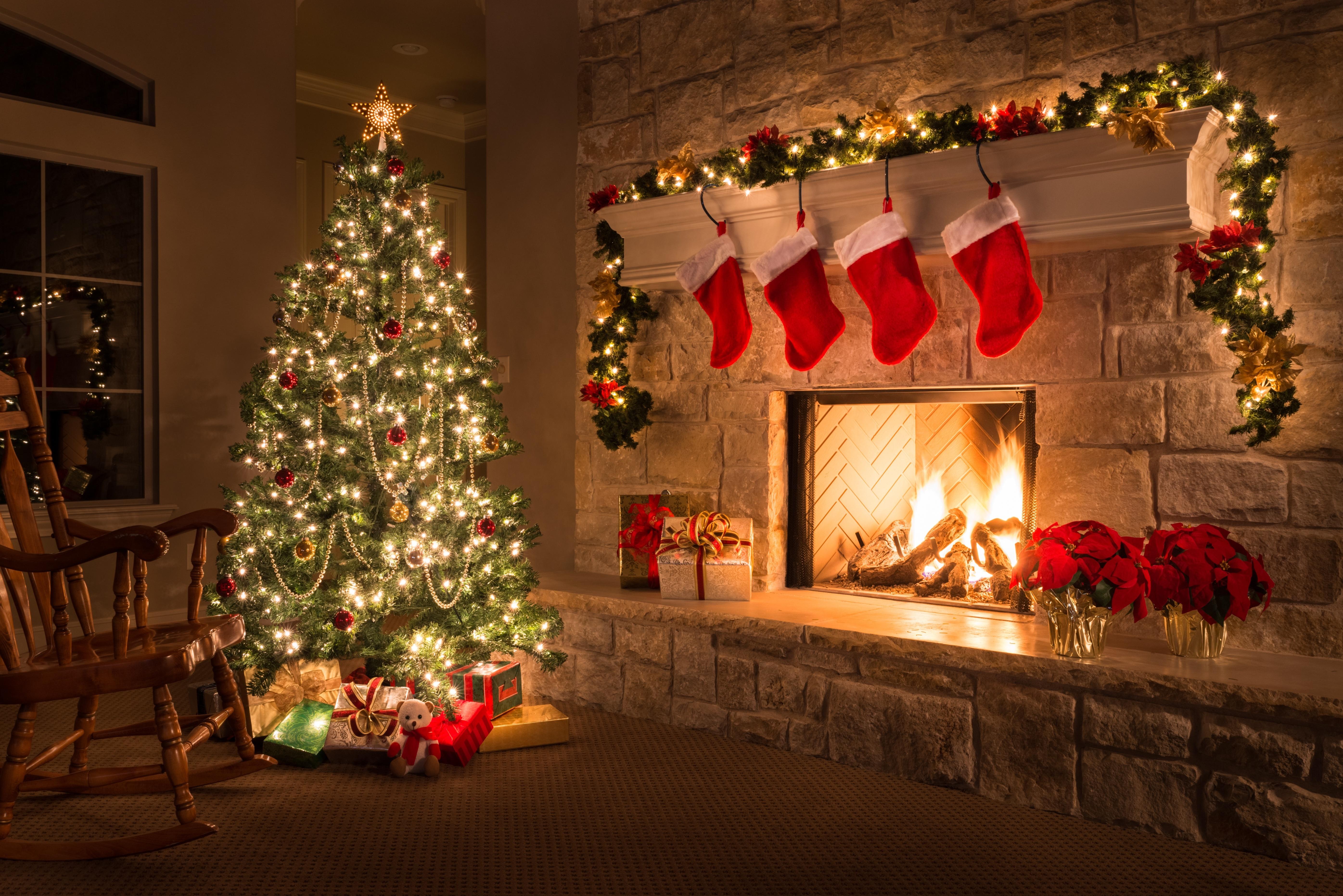 Новый год камин елка картинки