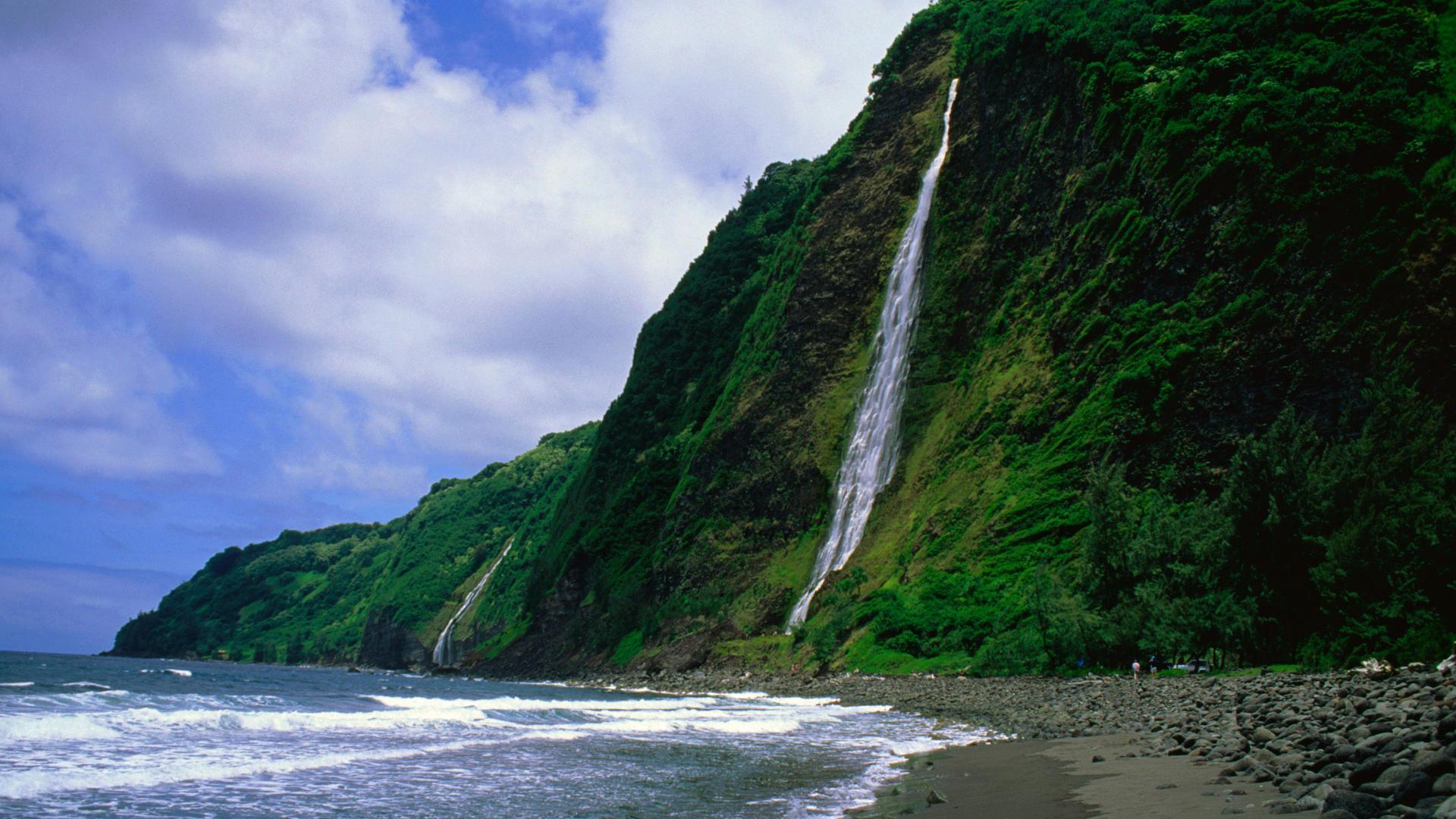 Фото водопады острова природа