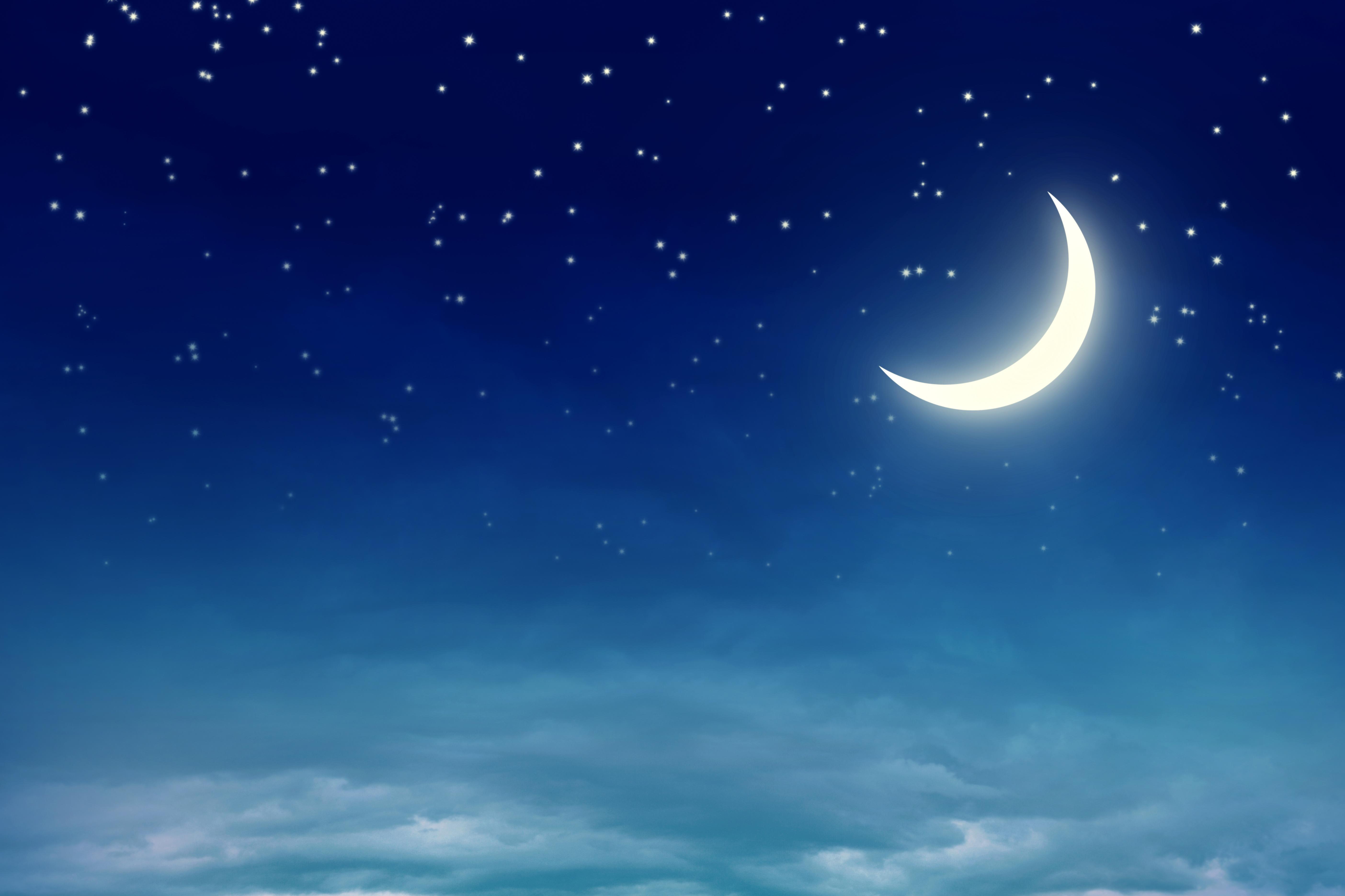 Картинка месяц ночью для детей