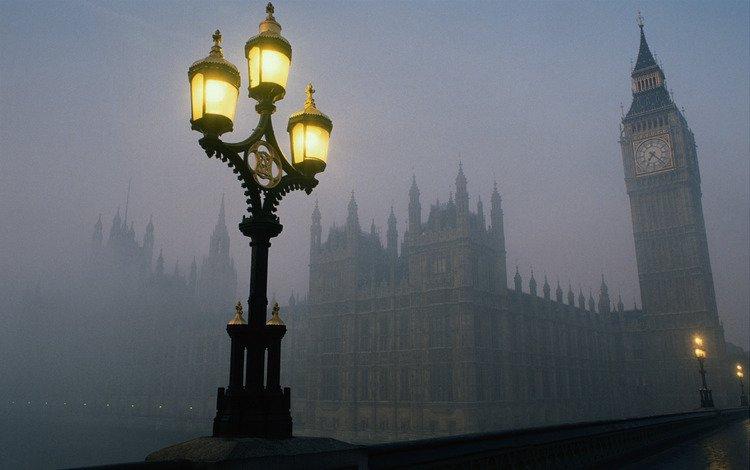 Англия лондон башня часы биг бен