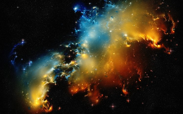 Скачать обои космос галактика звезды