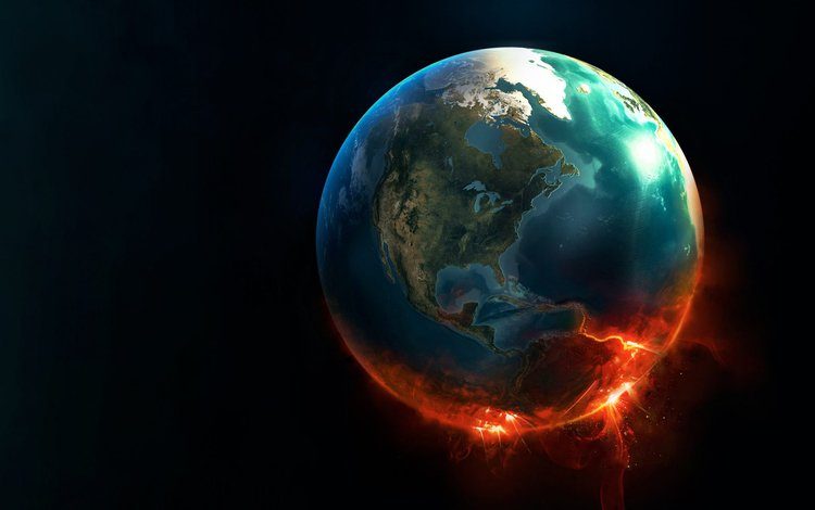 Скачать обои земля планета космос