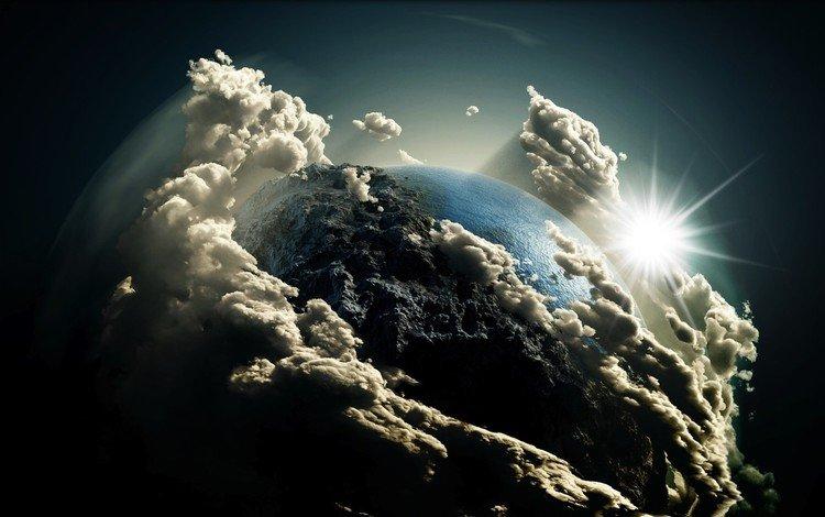 облака вокруг земли картинки направление значительно повлияло