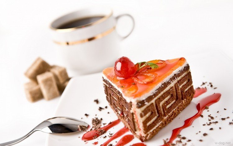 Кофе с пирожными открытки