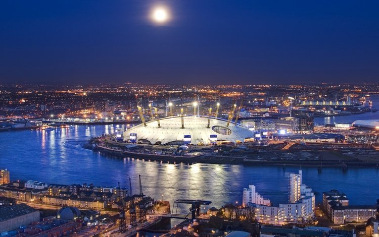 лондон, темза, англия, o2 arena, london, thames, england