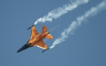 истребитель, f-16, fighting falcon