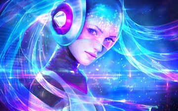 девушка, girl, lol, league of legends, sona, maven of the strings