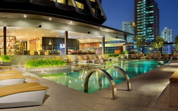 таиланд, travel, бангкок, thailand, tourism, best hotels, resort, doubletree by hilton hotel, bangkok, swimming pool